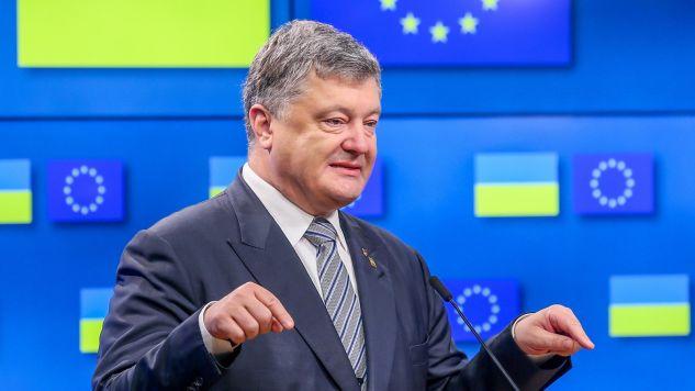 Prezydent Ukrainy Petro Poroszenko (fot. PAP/EPA/STEPHANIE LECOCQ)