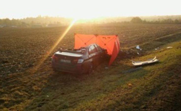 Tragiczny wypadek na DK5 k. Świecia (fot. KP PSP Świecie)