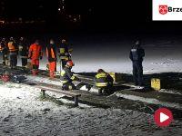 Pod nastolatkami załamał się lód. Trwa walka o życie chłopca