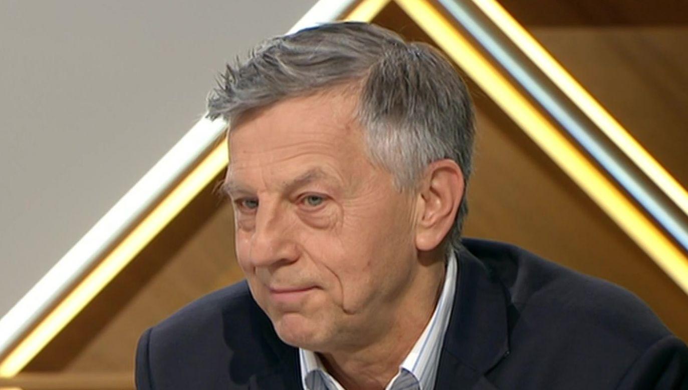 Prof. Andrzej Zybertowicz doradca społeczny prezydenta RP Andrzeja Dudy, doradca szefa BBN. (fot. TVP info)