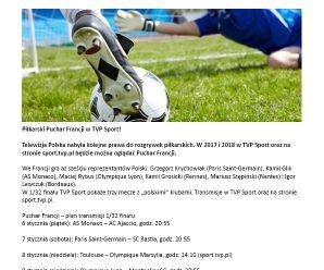 Piłkarski Puchar Francji w TVP Sport!