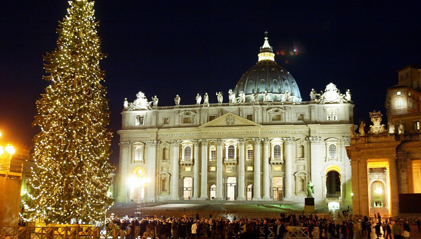 Uroczyste zapalenie lampek na choince i spotkanie z papieżem Franciszkiem odbędzie się 7 grudnia (fot. arch. PAP/EPA/DANILO SCHIAVELLA)