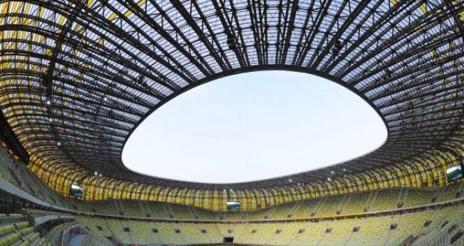 Tak wyglądał stadion na dzień przed meczem Polska - Niemcy (fot. PAP)