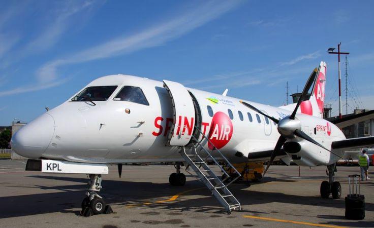 Saab SprintAir już kiedyś latał z Bydgoszczy, ale do Warszawy (fot. sprintair.eu)