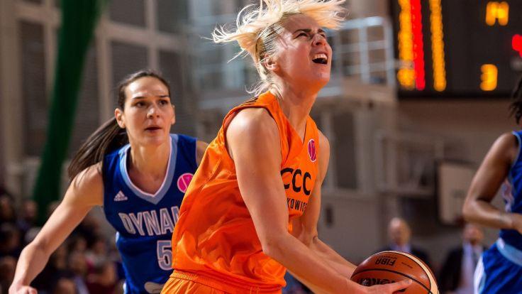 Elina Babkina (P) (fot. PAP/Maciej Kulczyński)