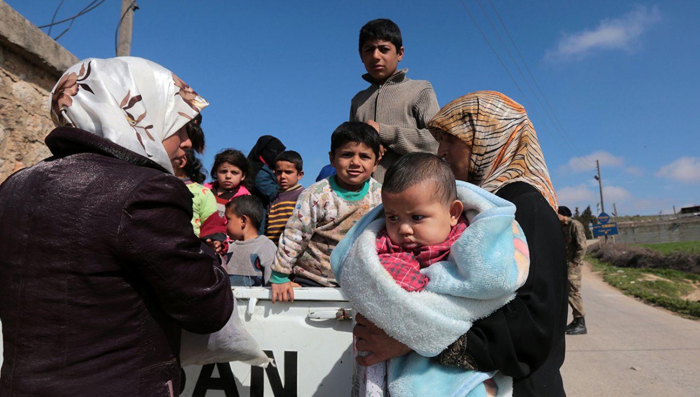 Recep Tayyip Erdogan przypomniał, że w Turcji przebywa 3,5 miliona uchodźców (fot. PAP/EPA/STR)