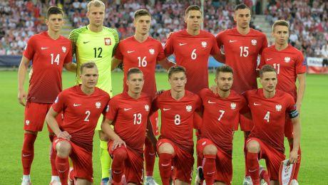 Reprezentacja Polski U-21 przed meczem z Anglią (fot. PAP/Piotr Polak)