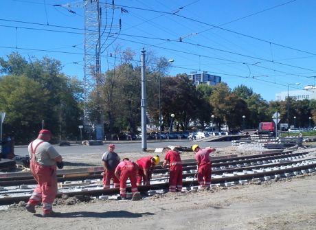 Przebudowa torowiska na ul. Wołoskiej