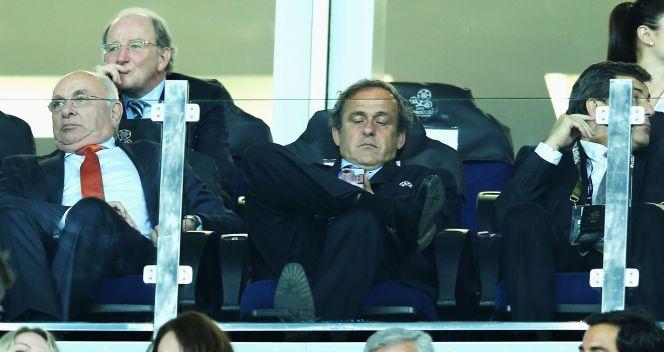 Michel Platini miał chwilę słabości (fot. Getty)