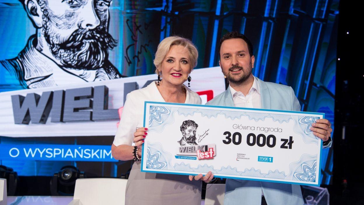 Barbara Włodarczyk i Marcin Przasnek w wielkim stylu wygrali konkurs (fot. Jan Bogacz/TVP)