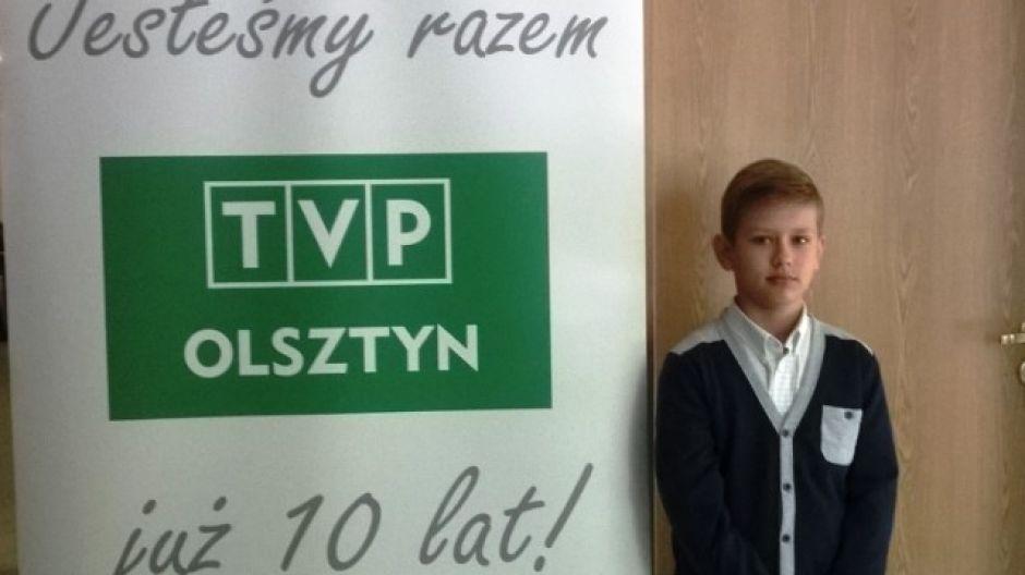 Maciej Krysiak, laureat konkursu namaluj dziesięciolecie TVP Olsztyn