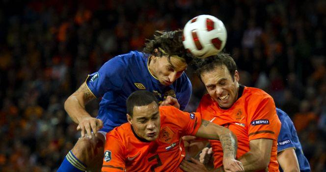 Zlatan Ibrahimovic nie zdobył bramki (fot.PAP/EPA)