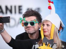Łukasz Zagrobelny i Marzena Rogalska (fot. Agencja Forum)