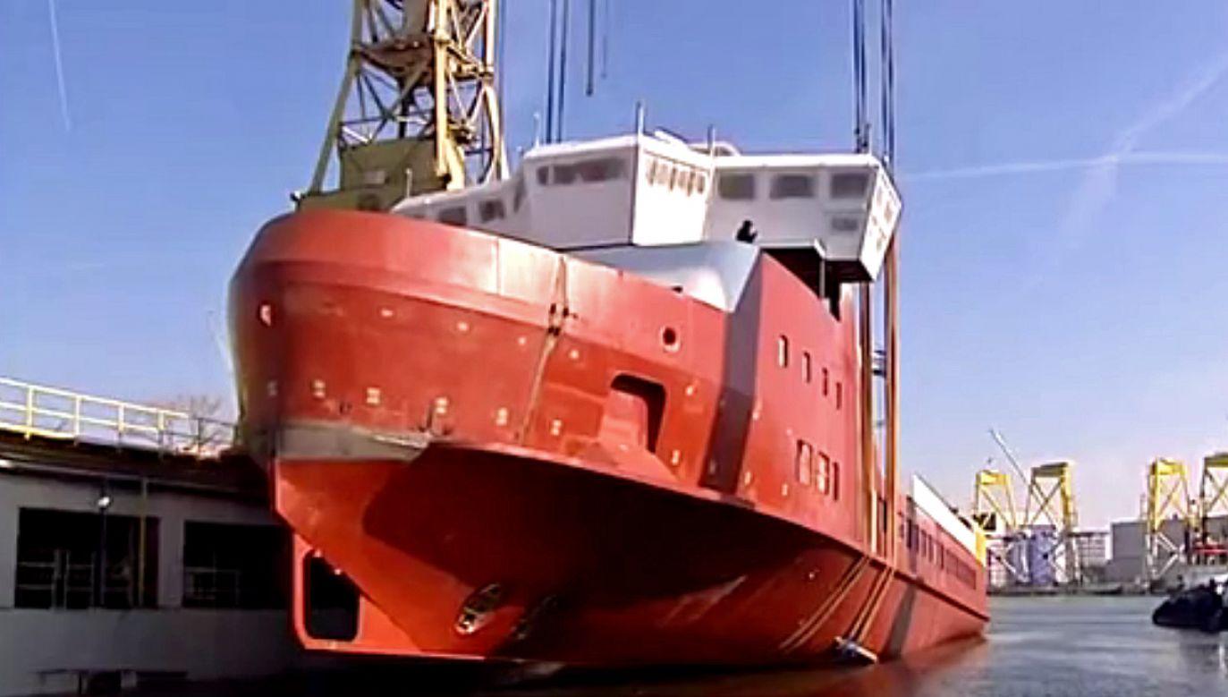 Jednostka została zbudowana dla duńskiego armatora (fot. TVP Szczecin)