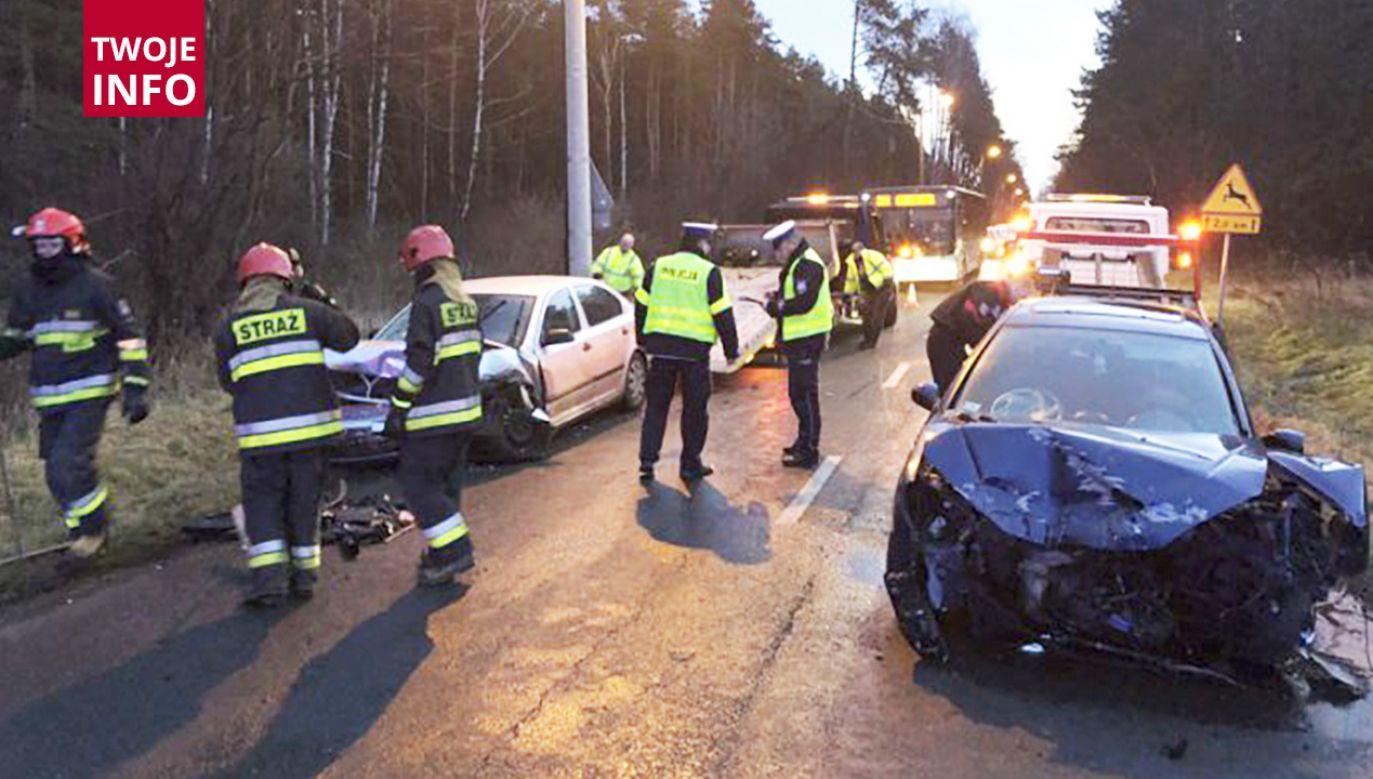 Trzy poszkodowane osoby trafiły do szpitala (fot. KMP Jaworzno)
