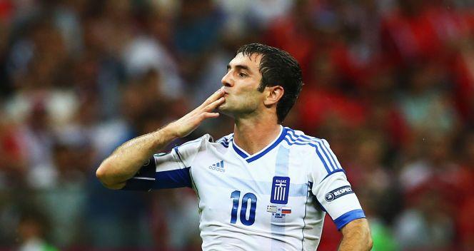 Radość kapitana Greków Giorgosa Karagounisa (fot. Getty Images)
