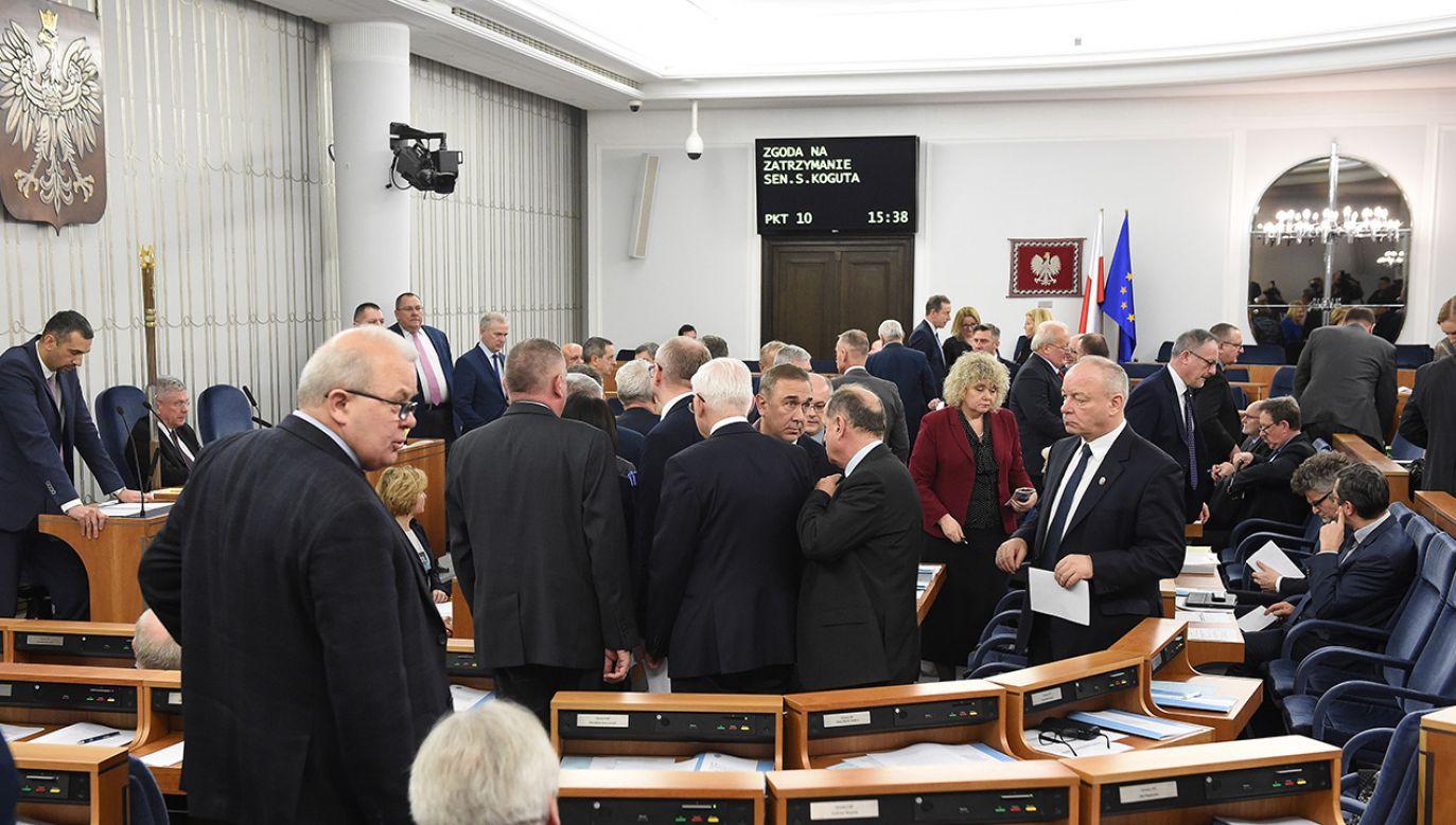 Senat nie zgodził się w piątek na zatrzymanie i tymczasowe aresztowanie senatora Koguta (fot. PAP/Radek Pietruszka)