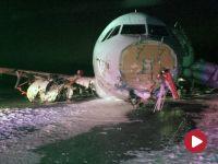 Airbus A320 wyleciał z pasa podczas lądowania. 22 osoby trafiły do szpitala