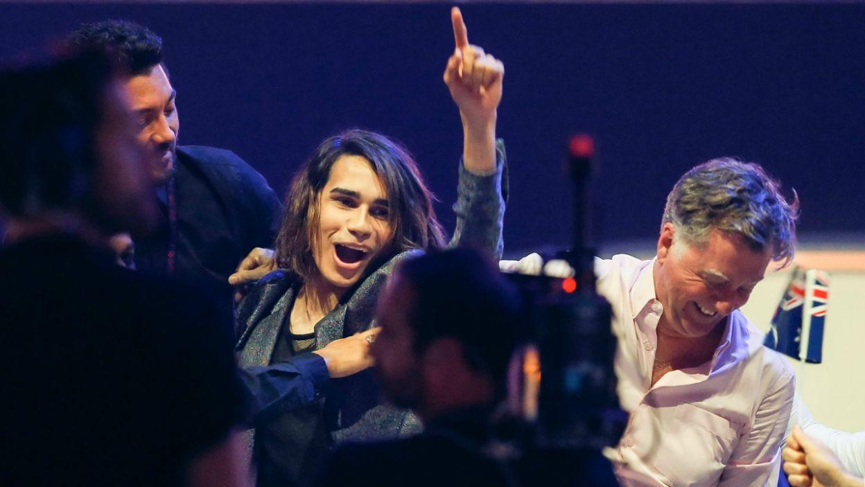 Entuzjaści Eurowizji, czyli Australia, w tym roku postawili na siedemnastoletniego Isaiaha i mieli rację (fot. PAP)