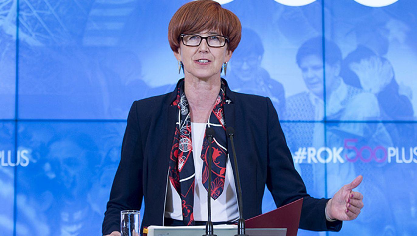 Elżbieta Rafalska, minister rodziny, pracy i polityki społecznej (fot. Flickr/P.Tracz/KPRM)
