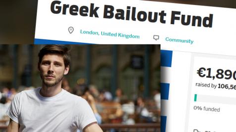 Thom Feenay zorganizował pomoc dla Grecji (fot. Twitter/Indiegogo.com)