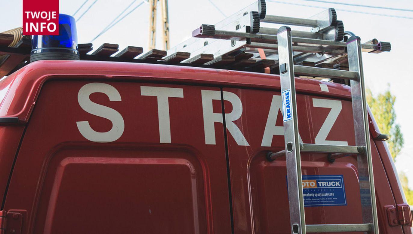 W gaszerniu pożaru brało udział kilka wozów gaśniczych (fot. Twoje Info Paweł Chrabąszcz)