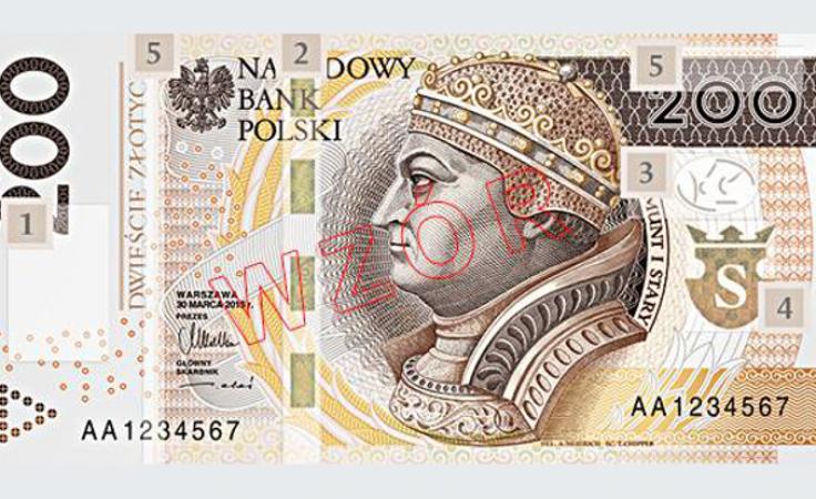 Wzór nowego banknotu dwustuzłotowego