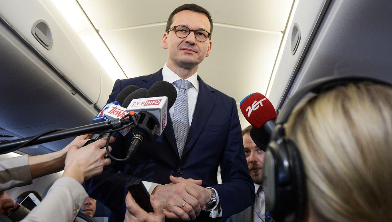 Premier Morawiecki wrócił wcześniej ze szczytu UE w Brukseli (fot. PAP/Marcin Obara)