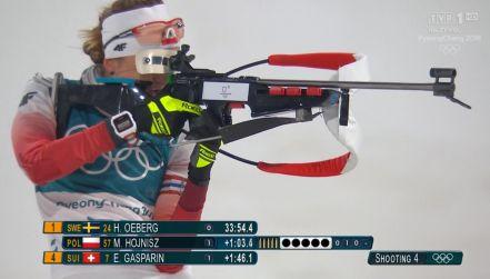 Biathlon: Monika Hojnisz 6. na 15 km. Zimna krew na ostatnim strzelaniu