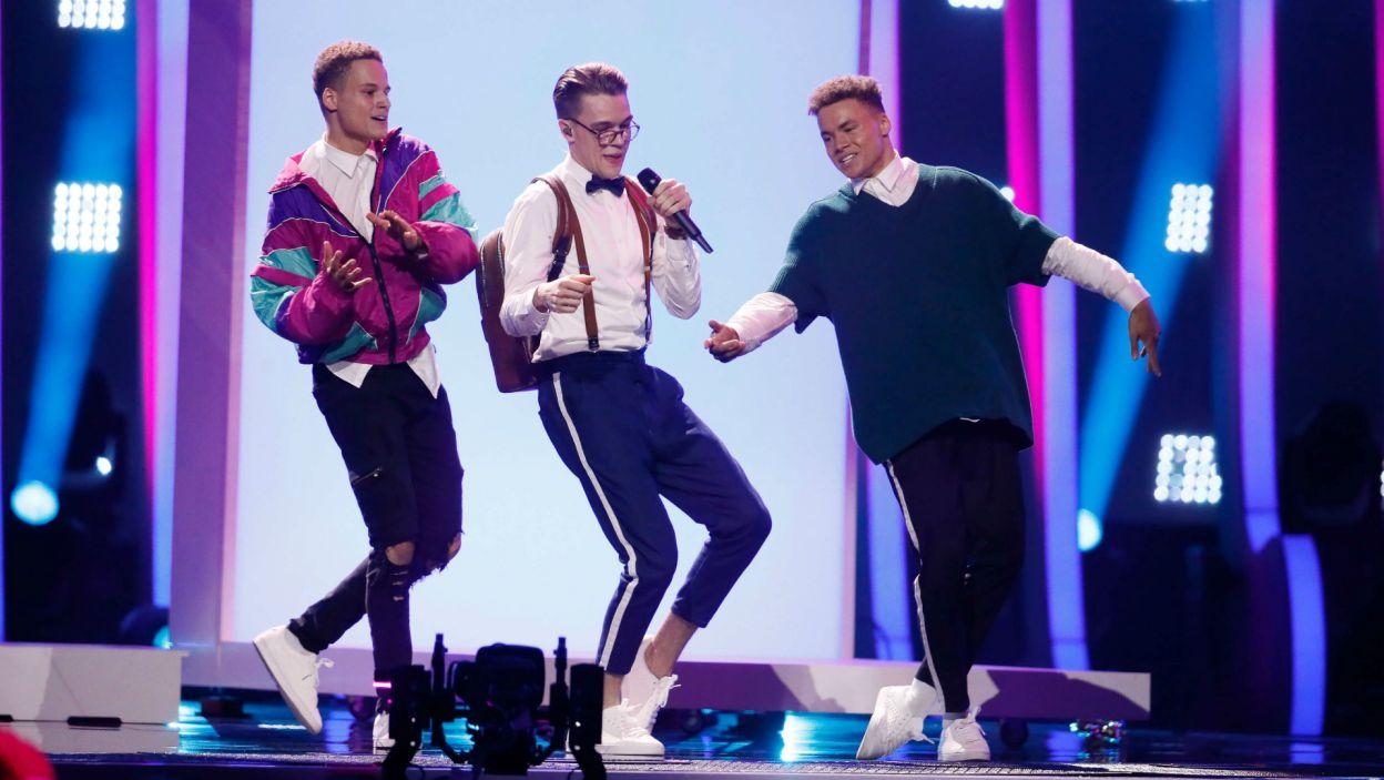 Problemu z dostaniem się do finału nie miał Czech Mikolas Josef. Jego zabawny i taneczny utwór jest typowany jako jeden z faworytów (fot. A. Putting/EBU)