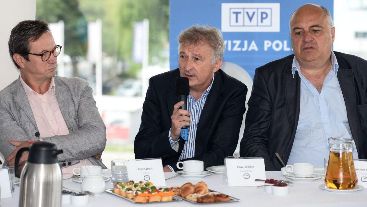 """Reżyser Paweł Woldan na warsztat wziął """"Brata naszego Boga"""" Karola Wojtyły (fot. TVP)"""