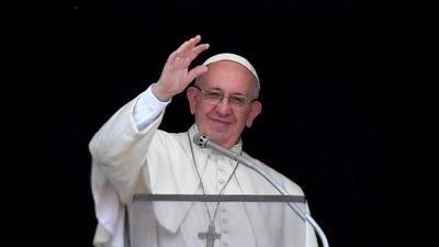 Światowe Dni Młodzieży Kraków 2016 - Okno Papieskie - pozdrowienie wiernych przez papieża Franciszka