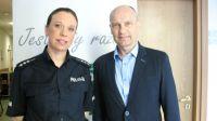 st. asp. Joanna Radek (Wydział Prewencji KWP w Olsztynie) i Błażej Gawroński (dyrektor MZPiTU w Olsztynie).