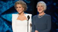 Jane Fonda i Helen Mirren (fot. PAP/ EPA/AARON POOLE / AMPAS / HANDOUT )