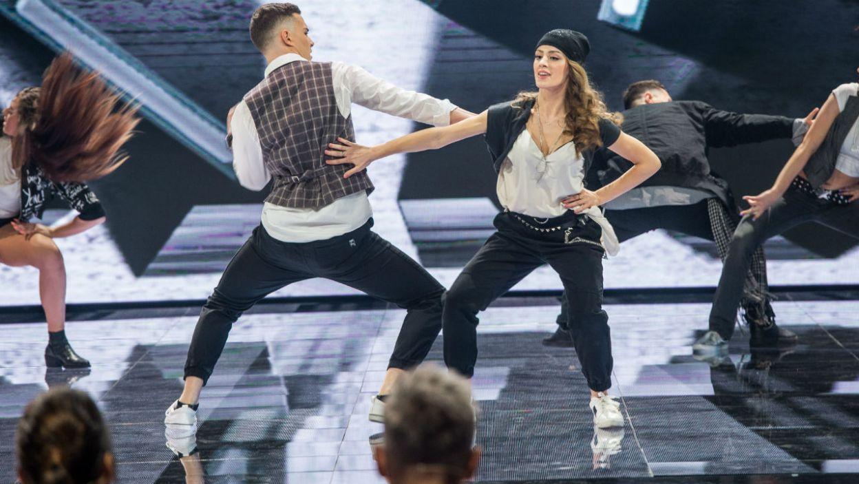 W drugiej choreografii Adam i Wiktoria tańczyli w rytm utworu Justina Timberlake'a (fot. TVP)