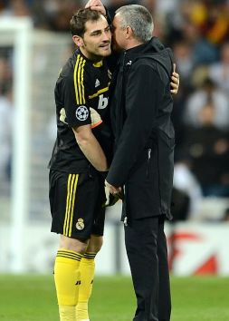 Iker Casillas i Jose Mourinho (fot. Getty Images)