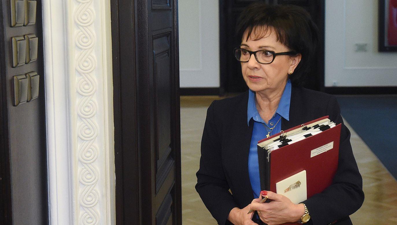 Elżbieta Witek (fot. PAP/Radek Pietruszka)