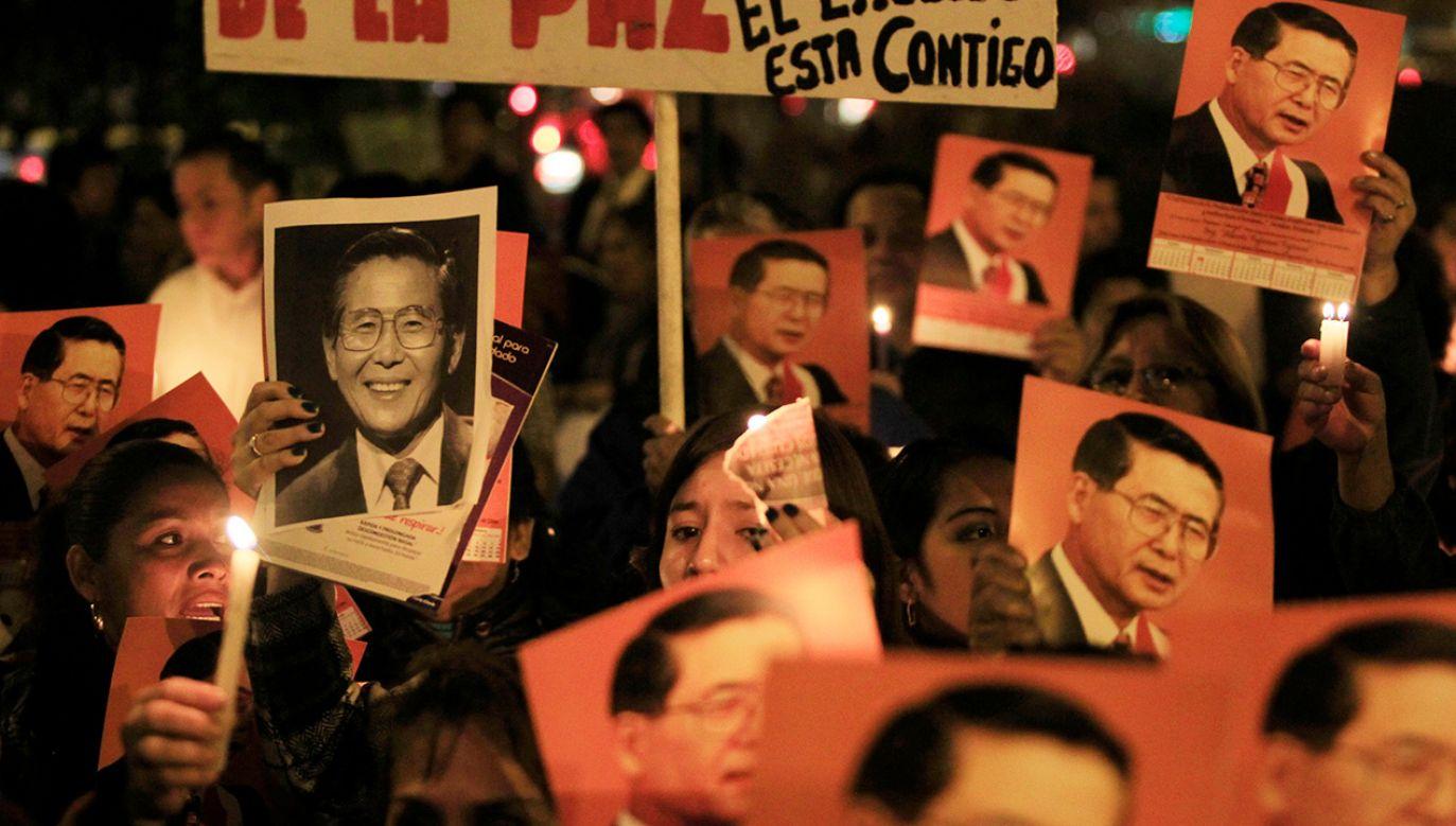 Fujimori jest postrzegany jako polityk wyjątkowo kontrowersyjny (fot. REUTERS/Enrique Castro-Mendivil)