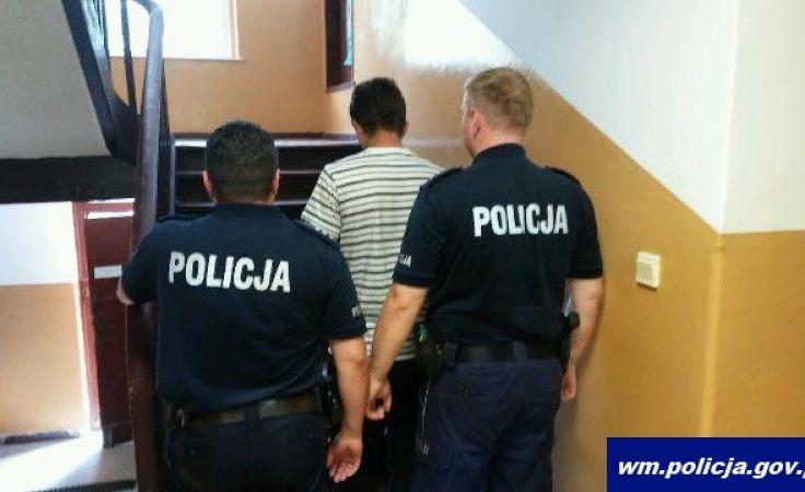 Mężczyzna został zatrzymany i doprowadzony do jednostki w Biskupcu