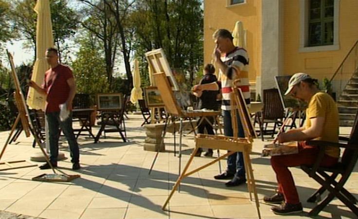 Pałac jako pracownia artystyczna. Międzynarodowy plener malarski
