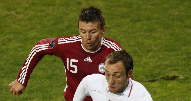 Łotwa zremisowała z Gruzją 1:1 (fot.PAP/EPA)