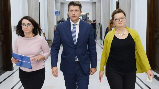 Politycy Nowoczesnej, od lewej: Kamila Gasiuk-Pihowicz, Ryszard Petru, Katarzyna Lubnauer (fot. arch.PAP/Jacek Turczyk)