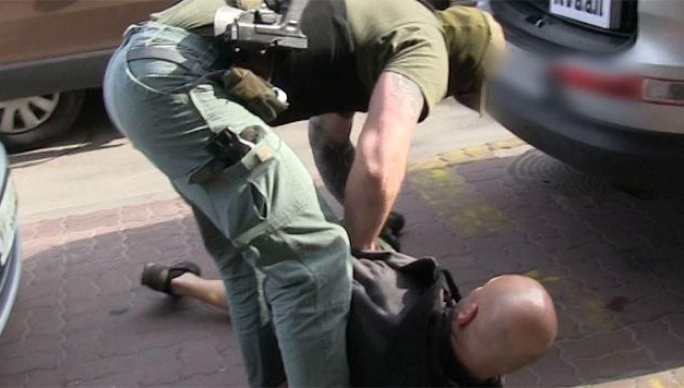 Zatrzymanie gangsterów z Kozienic (fot. CBSP)