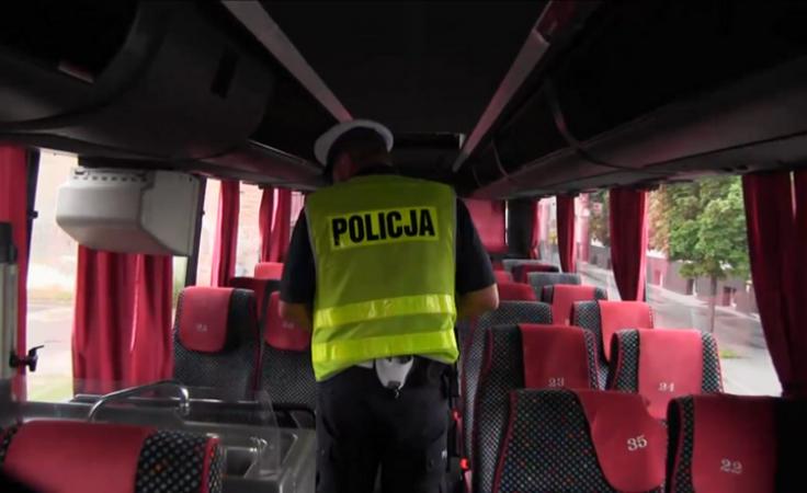 Żeby było bezpiecznie - policyjne kontrole autokarów