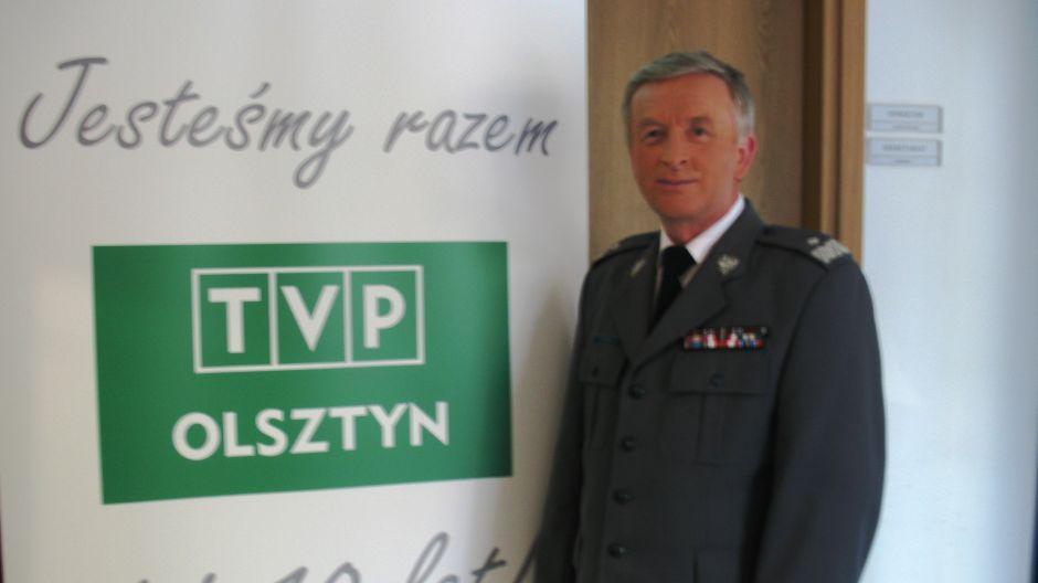 Nadinsp. Józef Gdański, komendant wojewódzki policji w Olsztynie.