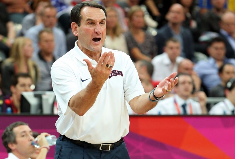 Mike Krzyzewski, trener Dream Teamu (fot. Getty Images)
