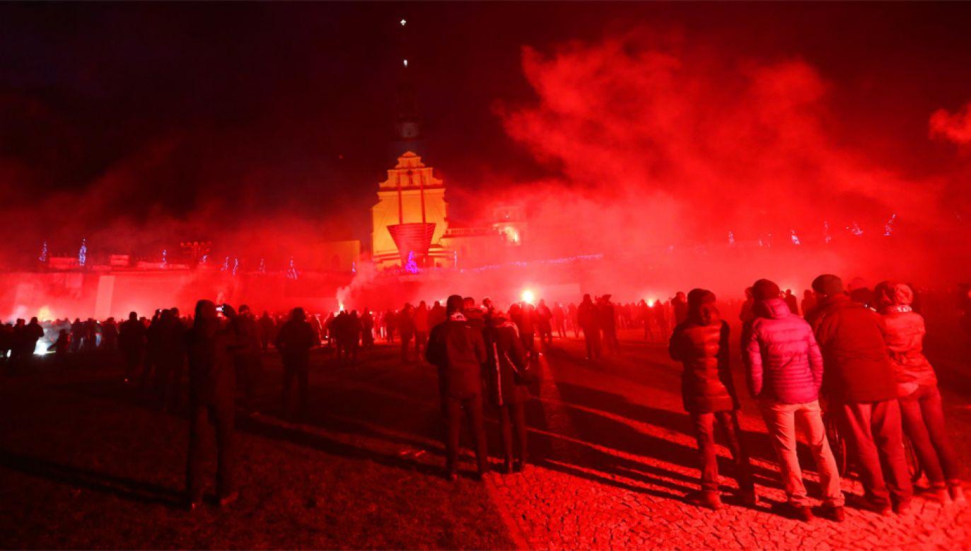 Ogólnopolska pielgrzymka kibiców odbyła się po raz dziesiąty (fot. PAP/Waldemar Deska)