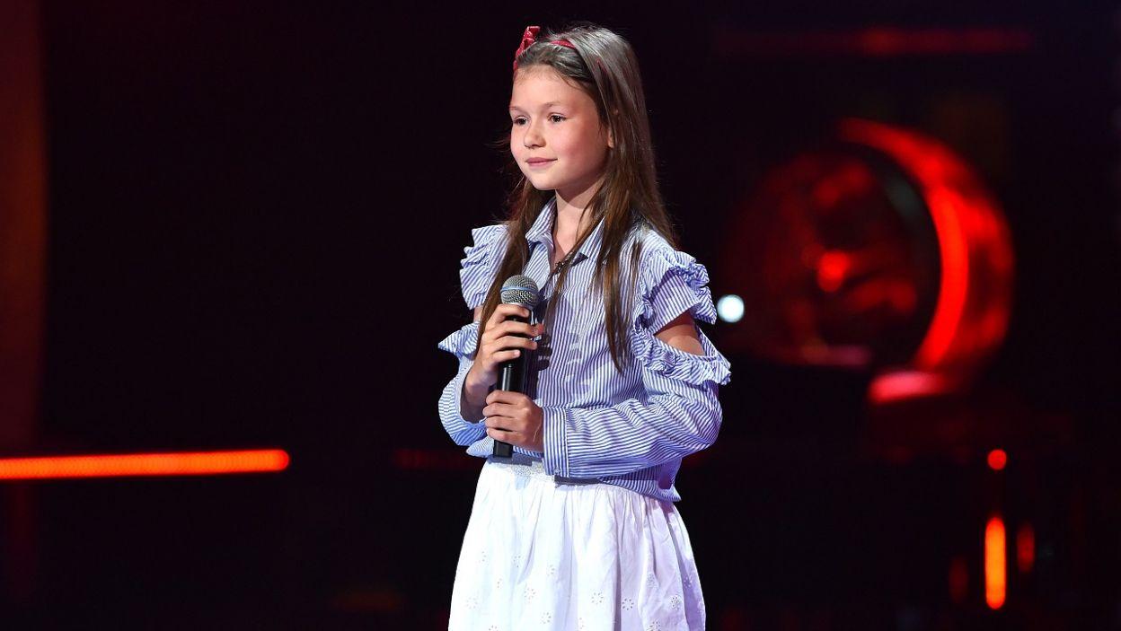 Ola Piotrowska ma dopiero 9 lat i już wykonuje utwory z repertuaru The Jackson 5. Czy to będzie początek kariery na miarę Michaela? (fot. TVP/I. Sobieszczuk)