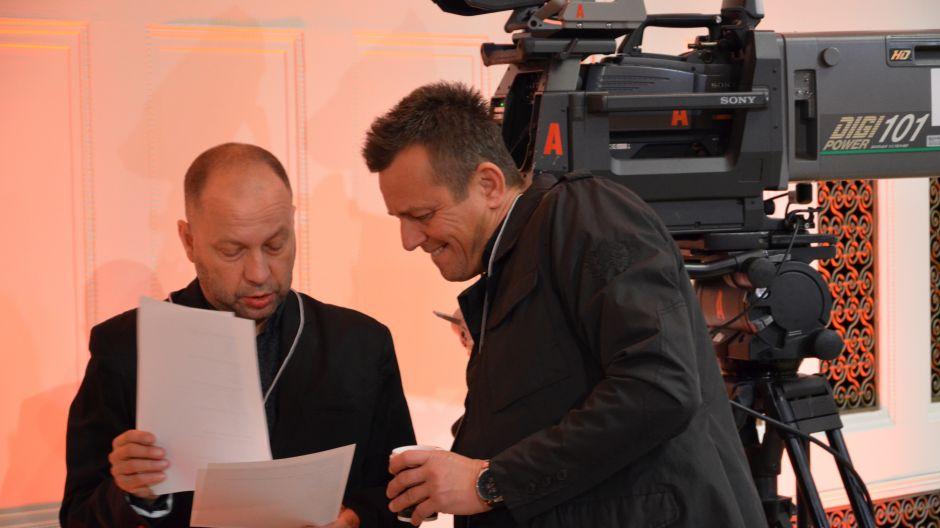 Praca ekip TVP podczas realizacji XV Międzynarodowego Konkursu Skrzypcowego im. Henryka Wieniawskiego w Poznaniu