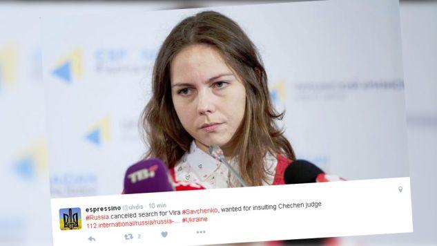 Wiery Sawczenko nie ma już na liście poszukiwanych (fot. Twitter)